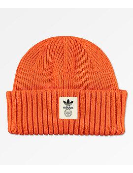 Adidas Originals Orange & Off White Beanie by Adidas