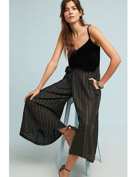 Blake Striped Wrap Trousers by Eva Franco
