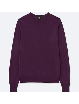 Ladies Sweater In Extra Fine Merino Wool With Crew Neck by Uniqlo