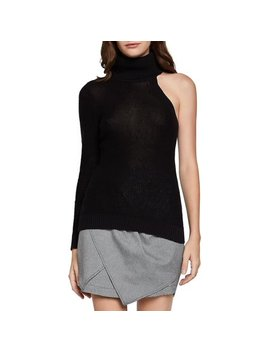 One Shoulder Turtleneck Cotton Pullover by Bcb Generation
