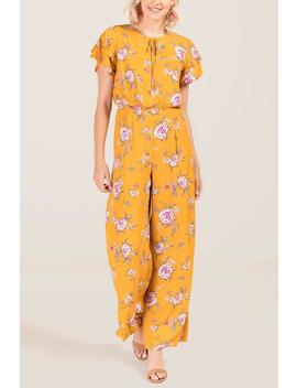 Frenchie Floral Jumpsuit by Francesca's