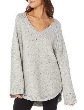 Confetti Curved Hem Tunic Sweater by Michael Stars