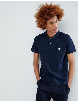 Timberland Tree Logo Pique Polo In Navy by Timberland