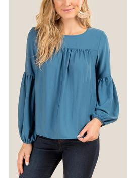 Karigan Poet Sleeve Blouse by Francesca's