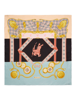 Multicolor Silk Scarf by Burberry