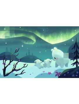 Polar Bears   Art Print by Etsy