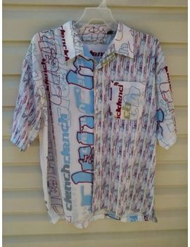 "Clench Jeans Short Sleeve  S Ignature Print.Shirt 2 Xl Chest 53"" Guc 4.99 Shipping by Tony Jones Clench Jeans"