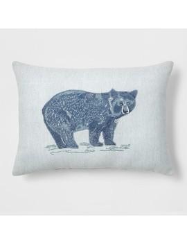 Bear Lumbar Throw Pillow Blue   Threshold™ by Threshold