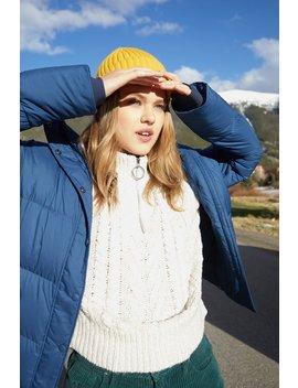La Hearts Fair Isle Zip Up Mock Neck Sweater by Pacsun