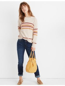Cashmere Sweatshirt In Hendry Stripe by Madewell