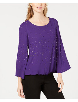Embellished Bubble Top, Created For Macy's by Alfani
