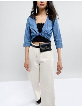 Glamorous Black Belt Bag With Buckle by Glamorous