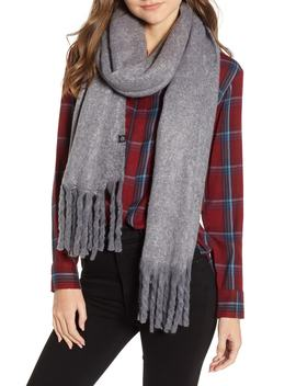 Solid Brushed Wrap Scarf by Treasure & Bond