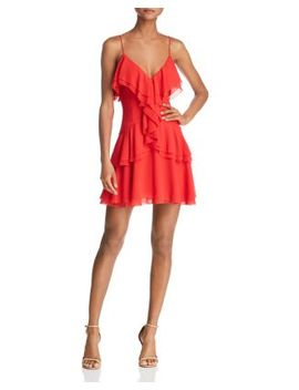 Elude Ruffle Mini Dress by C/Meo Collective