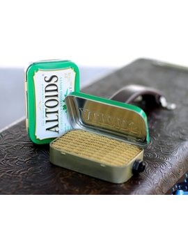 Portable Mint Tin Amp And Speaker For Electric Guitar  Altoids Green/Tweed Handmade Gifts For Guitar Players by Etsy
