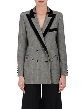 Everyday Checked Wool Double Breasted Blazer by BlazÉ Milano