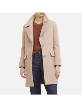 Tailored Wool Coat In Blush Pink by Kenneth Cole New York