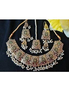 Latest Traditional Hyderabadi Set Patra Set Pakistani Bridal Jewelry Set Necklace Tika Indian Bridal Jewellery Set Gold Polished  Earrings by Etsy