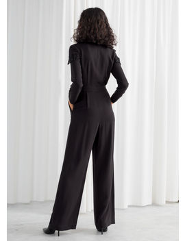 Beaded Long Sleeve Jumpsuit by & Other Stories