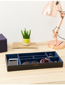 Ted Baker Desktop Tidy In Black Brogue by Ted Baker