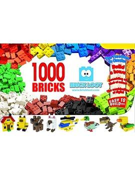 1,000 Bricks   1000 Toy Building Blocks   Mixed Colors   Compatible   Great Creative Box by Brick Loot