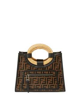 Runaway Small Ff Embossed Calf Shopping Tote Bag by Fendi