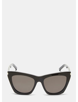 New Wave 214 Kate Sunglasses In Black by Saint Laurent