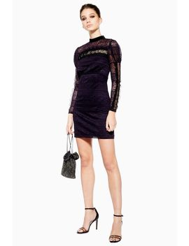 Scallop Lace Trim Dress by Topshop