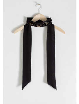 Jewelled Silk Ribbon Scarf by & Other Stories