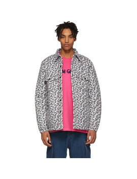 White Leopard Compa Shirt Jacket by Noon Goons
