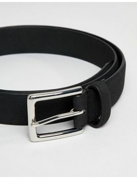 French Connection Plain Suedette Belt by French Connection