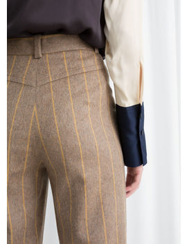 Wool Blend Striped Pants by & Other Stories