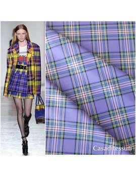 Suit Plaid Fabric by Etsy