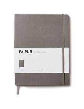 "Paipur Notebook ~ Bullet Journal ~ Innovative Dotted Grid & Ruled Hybrid Format ~ Narrow 0.24"" Spacing ~ Large 9.75"" X 7.5"" Softcover ~ Premium 100 Gsm Paper For All Pens With No Bleed by Paipur"