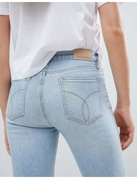 Calvin Klein High Rise Slashed Skinny Jeans by Calvin Klein