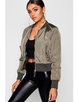 Zip Through Bomber Jacket by Boohoo