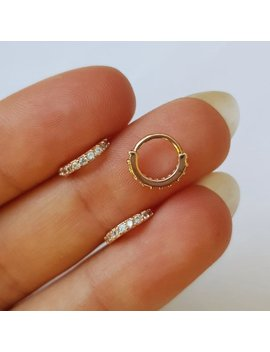 20g Tiny Rose Gold 6mm Sparkly Crystal Edged Boho Nose Ring Cartilage Helix Body Jewellery by Etsy