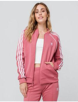 Adidas Sst Trace Maroon Womens Track Jacket by Adidas