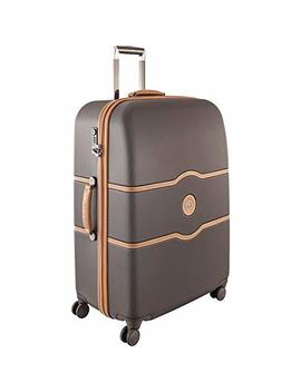 Delsey Luggage Chatelet Hard+, Large Checked Luggage, Hard Case Spinner Suitcase, Chocolate Brown by Delsey Paris