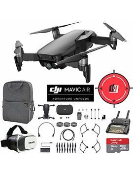 Dji Mavic Air (Onyx Black) Drone Combo 4 K Wi Fi Quadcopter With Remote Controller Mobile Go Bundle With Backpack Vr Goggles Landing Pad 16 Gb Micro Sdhc Card And Hd Filter Kit by Dji