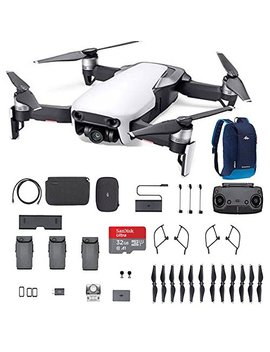 Dji Mavic Air Fly More Combo, Arctic White Portable Quadcopter Drone With 32 G Sd Card And More … by Dji