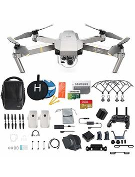 Dji Mavic Pro Platinum Fly More Combo Collapsible Quadcopter Drone Bundle, 64 Gb Memory Card, 2 Extra Battery, Landing Kit And More by Dji