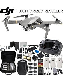 Dji Mavic Pro Platinum Fly More Combo Collapsible Quadcopter 3 Battery Ultimate Bundle by Dji