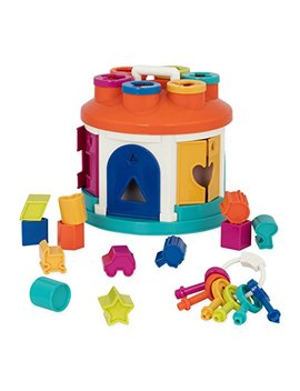 Battat – Shape Sorter House – Color And Shape Sorting Toy With 6 Keys And 12 Shapes For Toddlers 2 Years + (14 Pcs) by Battat