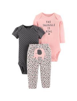 Baby Girl Carter's 3 Piece. Elephant Bodysuit & Pants Set by Kohl's