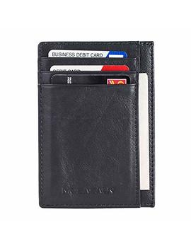 Minimalist Front Pocket Slim Wallets For Cards   Rfid Blocking Genuine Leather Wallets For Men And Women by Mosasaur