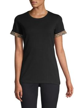 Kabini Check Cuff T Shirt by Burberry