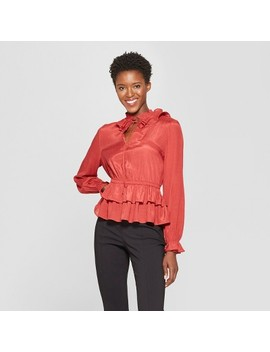 Women's Long Sleeve Tiered Ruffle Blouse   Who What Wear™ by Who What Wear