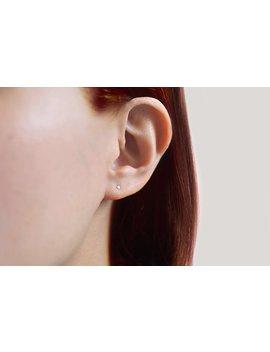 Tiny Stud Earrings. Silver. Small Dainty Earrings. Miniature Earrings. Minimal Studs. Everyday Earrings. by Etsy