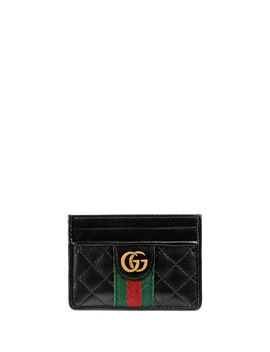 Trapuntata Leather Card Case by Gucci